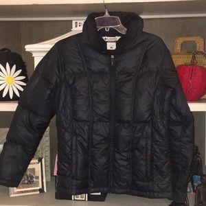 Ladies Small black puffer jacket Columbia
